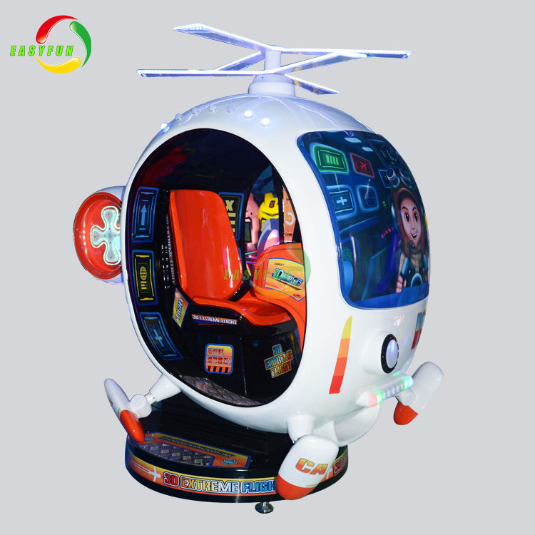 Children indoor game machine coin operated 3d extreme flight kiddie rides