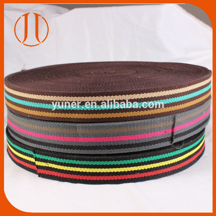 2016 colorful cotton webbing belt