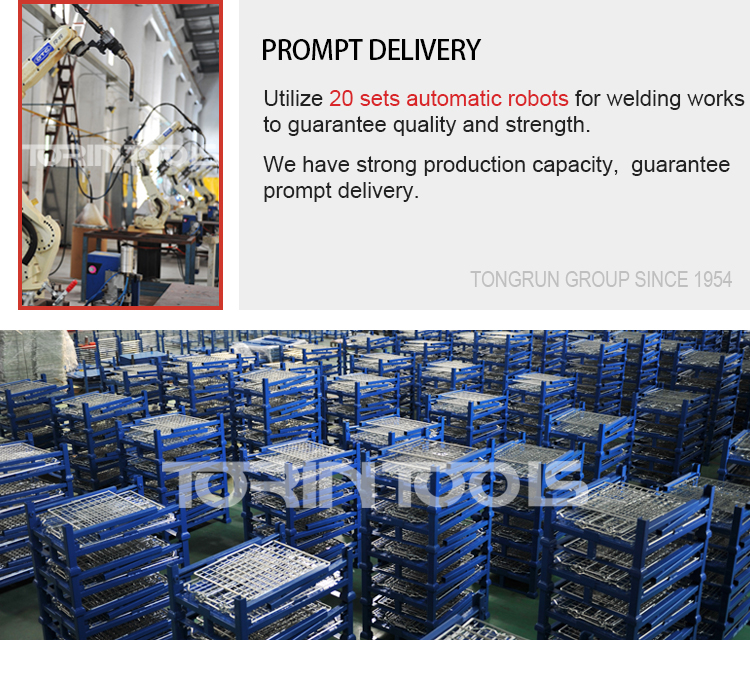 Customized Industrial European Collapsible Steel Cage Container