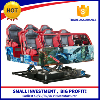 6 Seats Mobile 5D Cinema , Exciting truck Cinema Snow/Bubble Simulation