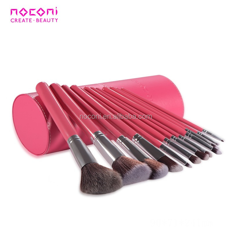 new 12 pieces professional makeup brush sets with brush cylinder for beauty