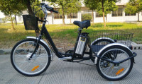 three wheel electric bicycle trike cargo for old people