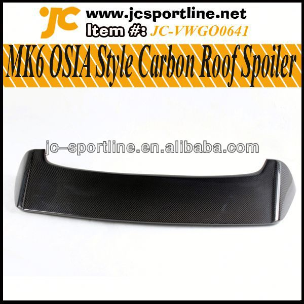 MK6 OSIA Style MK6 Rear Spoiler Carbon Fiber Golf VI MK6 Rear Trunk Boots Car Spoiler Lip for VW GTI Car