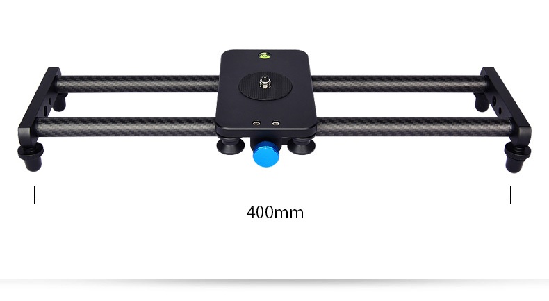 Yelangu L40T 40CM 15.7 Inch  Carbon Fiber Slider Lightweight And Smooth For Camera Smartphone