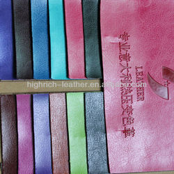 Hot selling pu hot color leather for casket, laptop bag ,stationgary