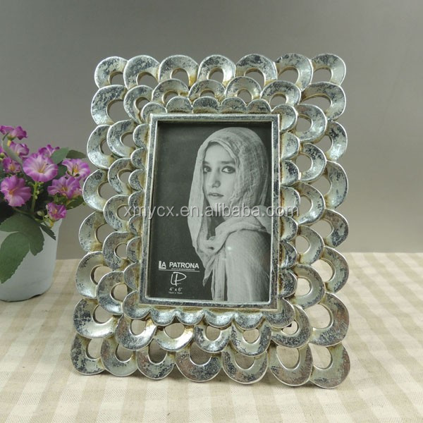 Wholesale Antique silver glitter beautiful 10x15 photo frame