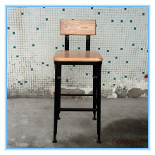 Industrial Metal Wood bar chair Vintage Metal High Bar Chair GA901