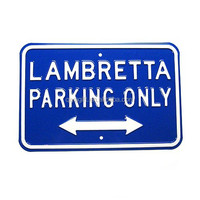 parking logo embossed tin signs
