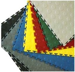 Coin Top Interlocking PVC Tile
