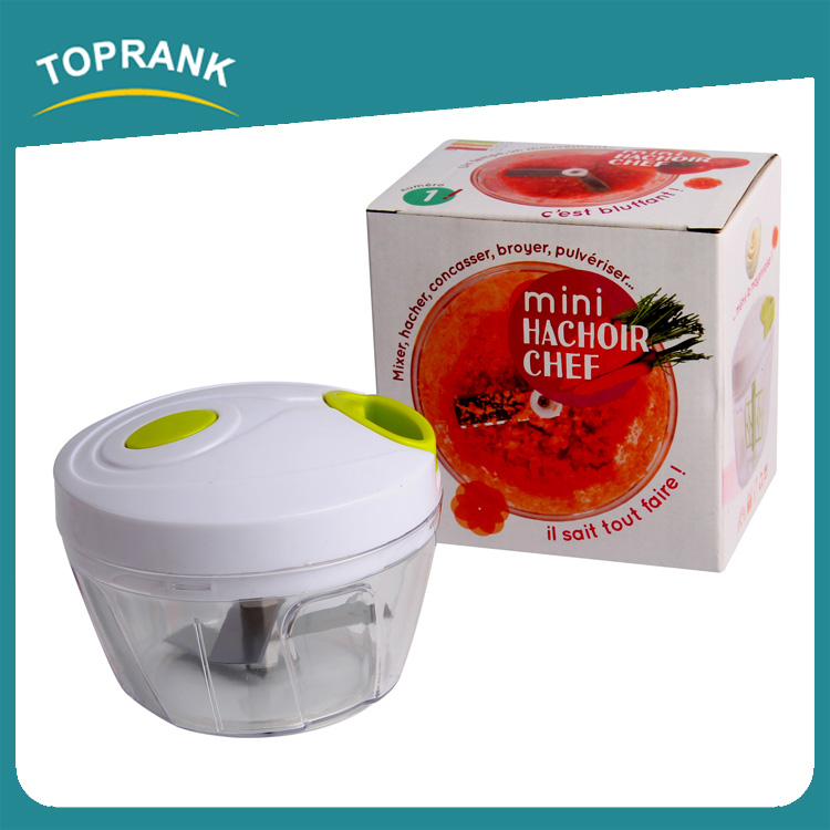 Toprank Multi-functional Manual Pull On The Rope Rotating Vegetable Cutter Mini Hand Pulling vegetable Fruit Cutting Chopper