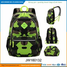 Camouflage Polyester Backpack Bag