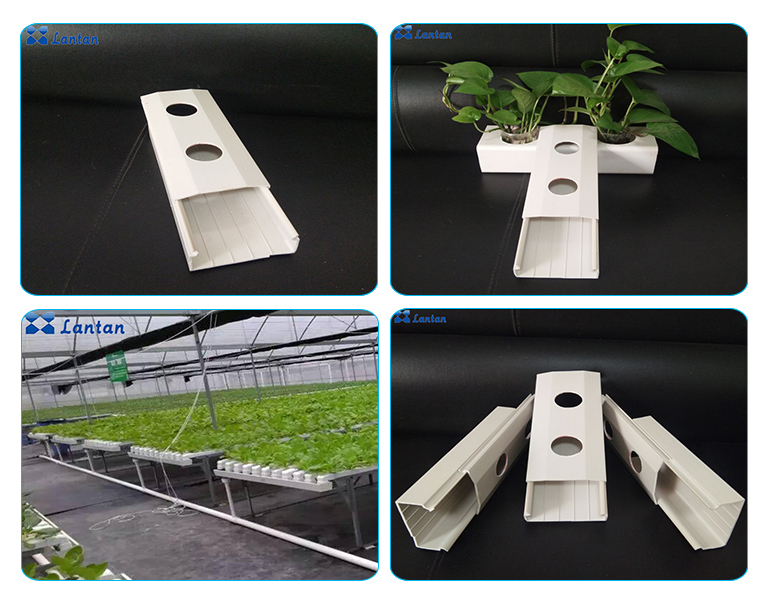 100x50mm Indoor PVC NFT channel hydroponics pipe for Healthy vegetables