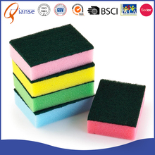 Customized wholesale factory price dish washing scrubber compressed melamine foam novelty kitchen cleaning sponge for furniture