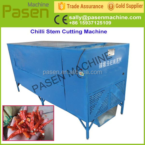 chilli head cutting machine one sale / chili stem removing machine / electric green pepper stem cutting machine