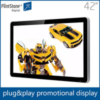 Commercial indoor 42 inch digital led screen display for advertising