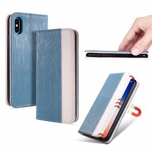 Luxury Flip Skin Leather Wallet Stand Design Mobile Phone Cover Case for Iphone X 8 7 6