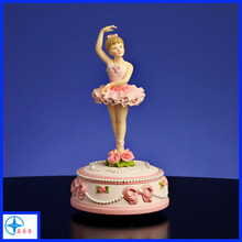 Ballerina and Bows Rotating Figurine