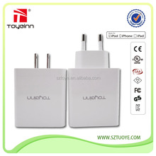 High quality smart IC 5V 2.4A max 4 port usb travel charger,usb wall charger