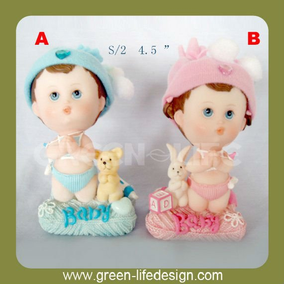 Resin praying baby figurine