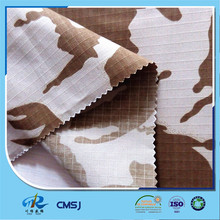 China supplier poly cotton ripstop desert camo printed fabric