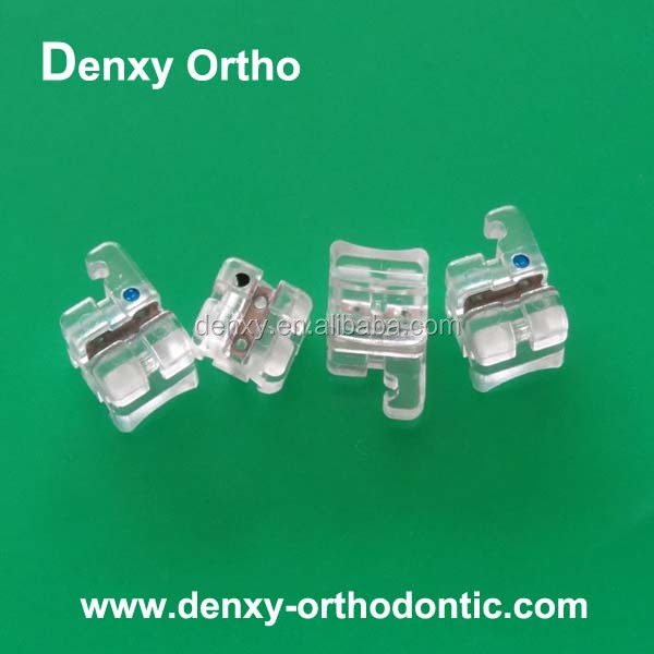 CE/ ISO high-quality orthodontic bracket clear resin plastic dental brace
