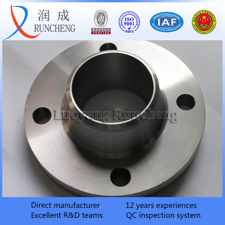 ASTM A105 ASME B 16.5 forged carbon steel welding neck flange