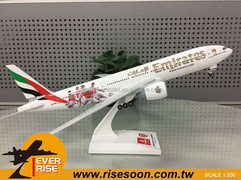 Boeing B777-200 Emirates Airlines Scale 1:200 Airplane model