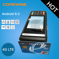 Android LTE 4 inch wireless durable industrial protable data capture terminal with GPRS RFID and WiFi