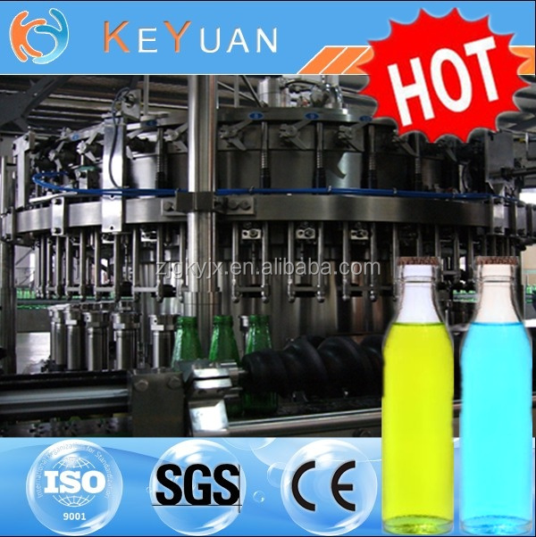 High Quality 3 in 1 monoblock RCGF Full Automatic Bottle Fruit Juice Filling Machine