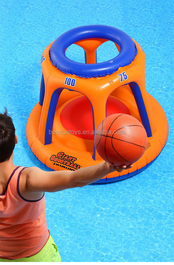 giant shootball inflatable pool toy plastic floating game big pool toys
