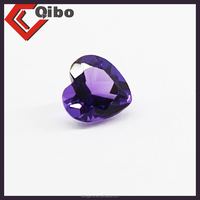 Heart shape factory price natural brazil amethyst 5*5mm