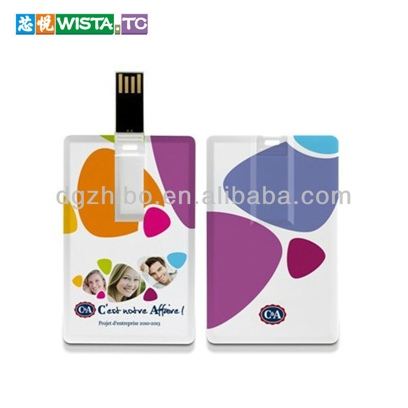 2G/4G/8G/16GB credit card waterproof Promotional USB Flash drive/USB card