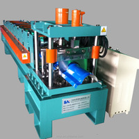 Ridge forming machine popular hydralic cutting color coated metal sheet roof ridge cap tile cold roll forming machine