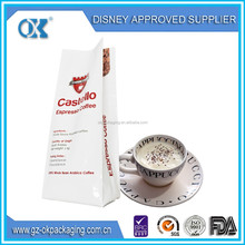 coffee packing bag/custom printing coffee bag/coffee packaging bag with valve