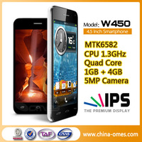 OMES W450 4.5inch MTK6582 Cheap 3G New Models Smart Phones