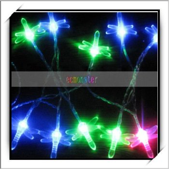 Christmas Decoration Battery Powered LED Light Colored Lamp (Dragonfly)