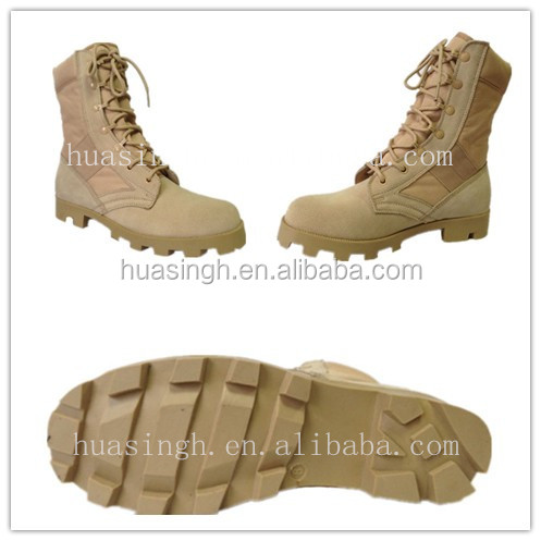 speed lace up system sandy resistant suede leather desert boots for military mission