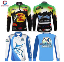 New Custom cheap sublimation tournament fishing jerseys/fishing wear/fishing clothing wholesale