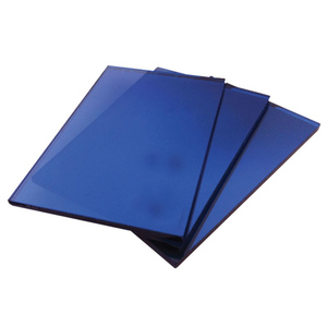 Standard size blue 6 mm tempered reflective glass panels with favorable price