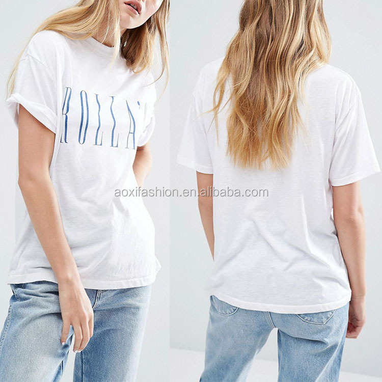 Latest wholesale custom women pima cotton plain no brand t-shirt
