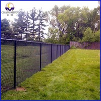 hot sale home used PVC coated chain link fence