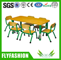 SF-07C Daycare Kids Furniture Children Table and Chairs Wooden Height Adjustable Dining Table