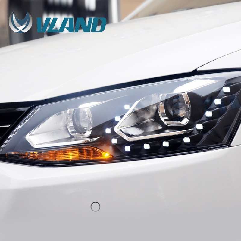 Vland factory direct price jetta mk6 led headlight vw jetta projector headlight
