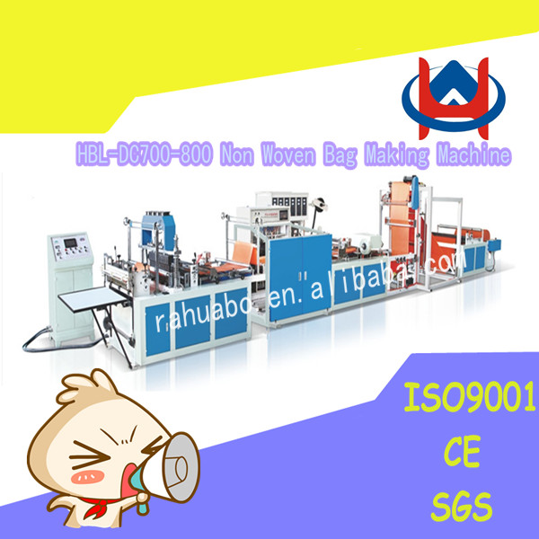 Automatic Easy operation Full Automatic Non woven Bag Cutting and Sewing Machine/Non woven Bag Making Machine Price/Bag Making M