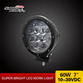 CE Certified 4x4 Off Road Auto Accessory 7'' 60W Cree LED Driving Light