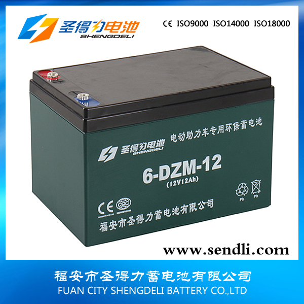 ABS Battery Container sealed lead acid high quality 12v12ah electric bike battery