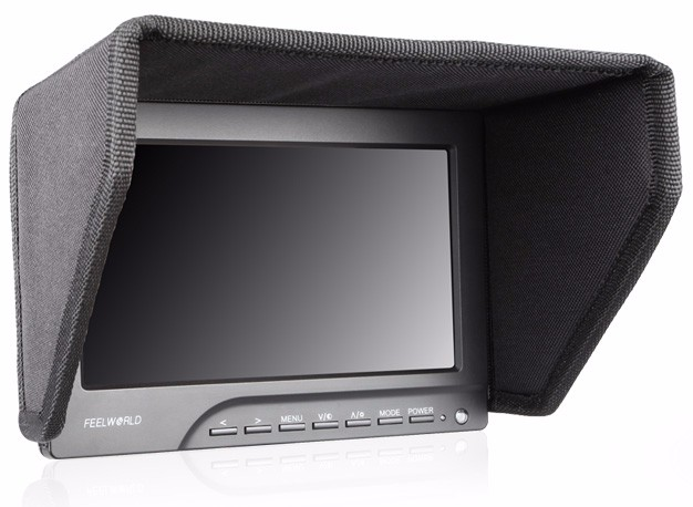 7 inch HD On Camera Field Monitor with vga hdmi inputs F970 Battery Plate