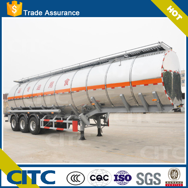 Aluminum Oil Tank Trailer Fuel Tanker Truck Road Transport round shape