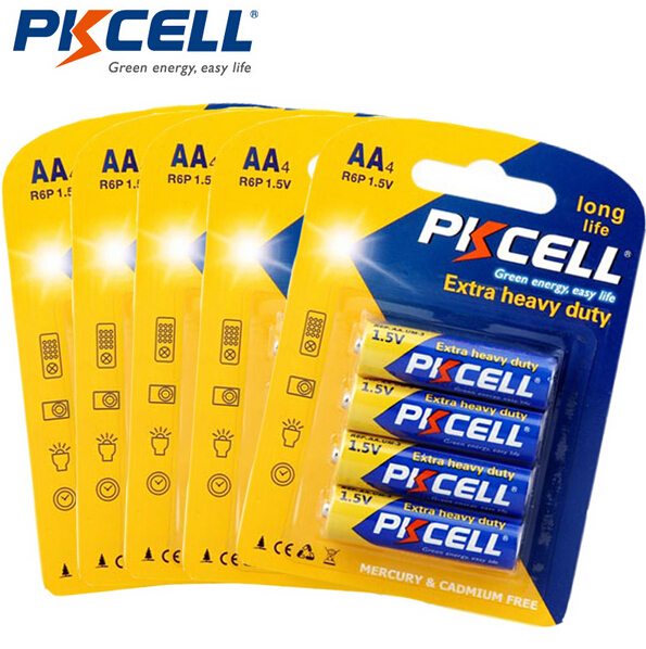 PKCELL High quality Um3 Sum3 R6P 1.5v aa zinc carbon battery