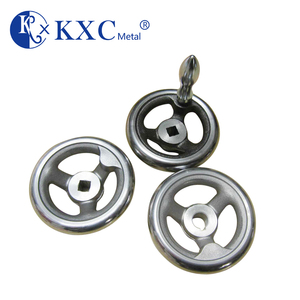 Hot sale spoke casting steel machine chrome plated hand wheel with handle